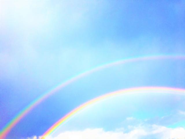 ダブルレインボー(二重の虹)の意味は?地震との関係性【画像】